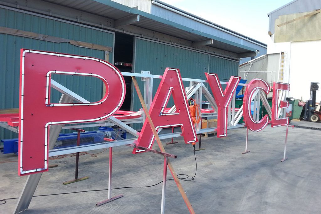 PAYCE Crane Sign